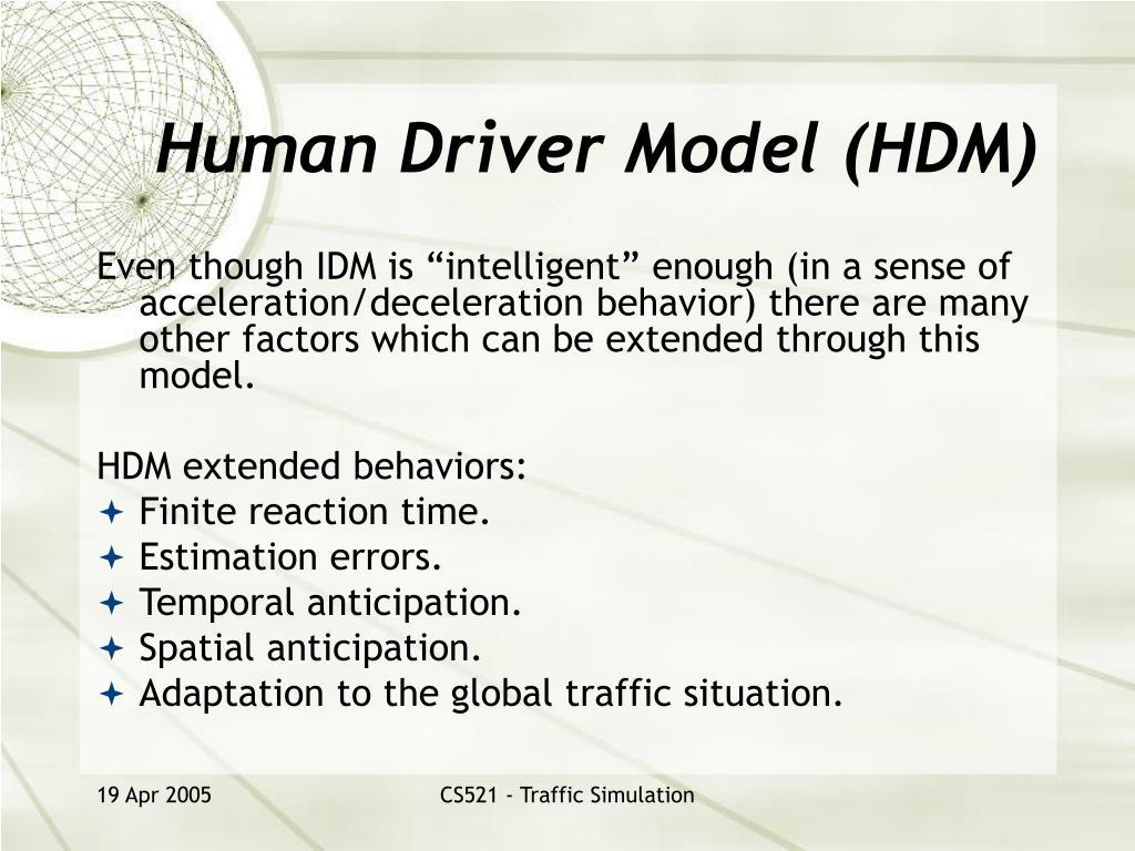 Human Driver Model (HDM)