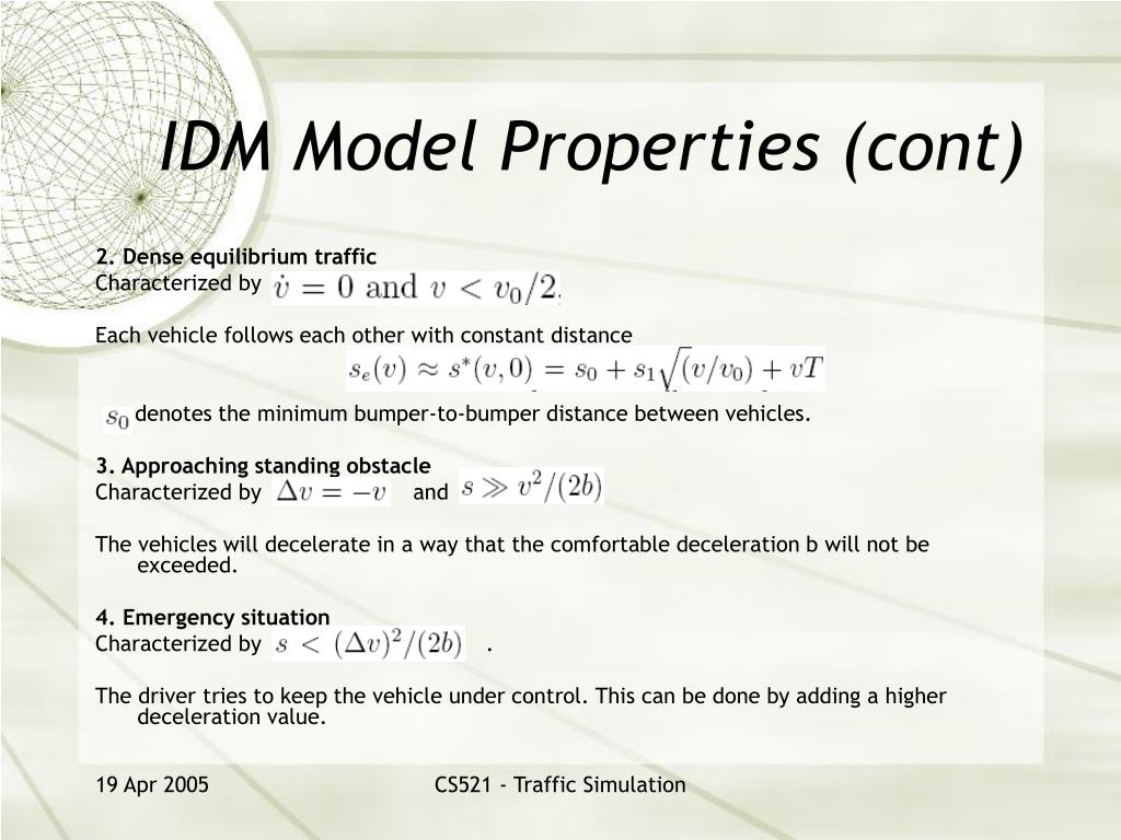 IDM Model Properties (cont)