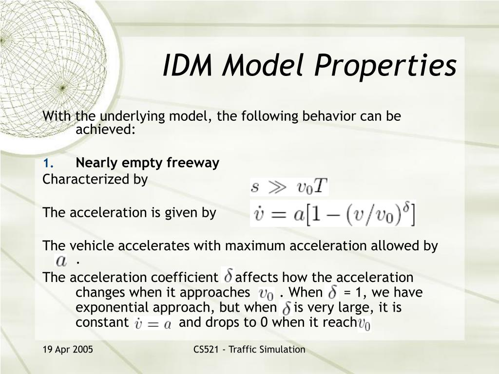 IDM Model Properties
