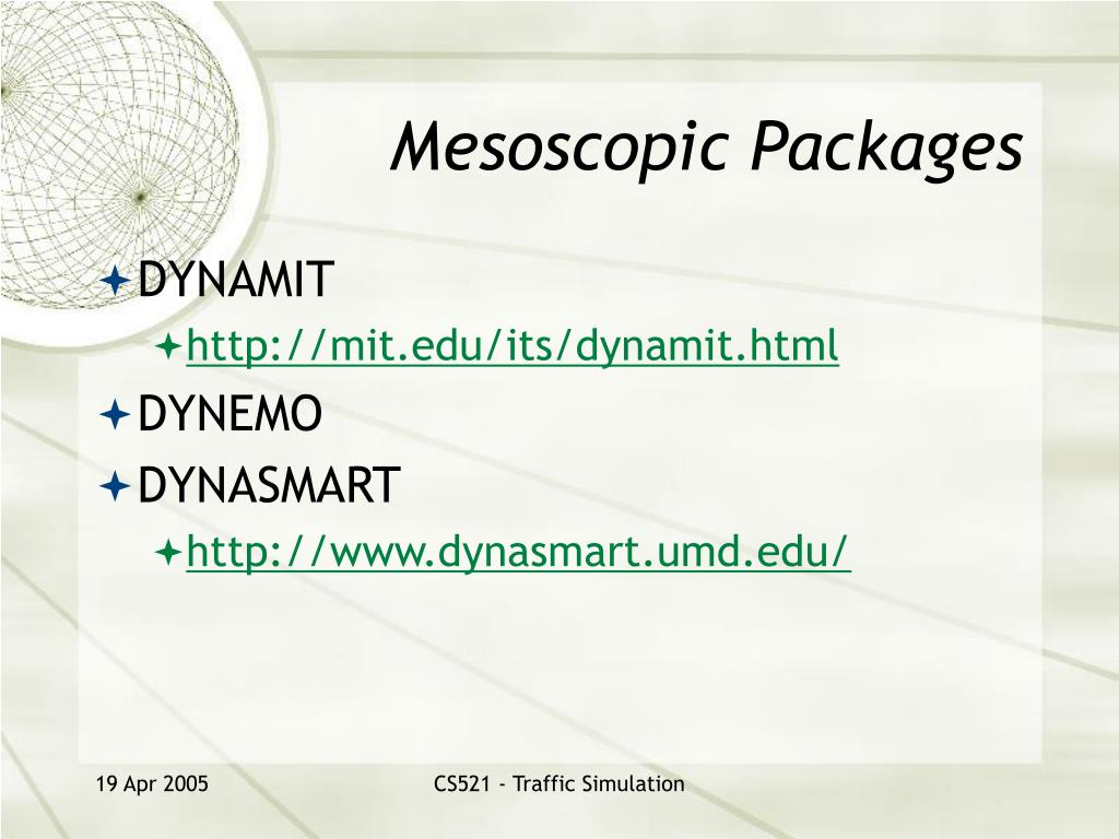 Mesoscopic Packages