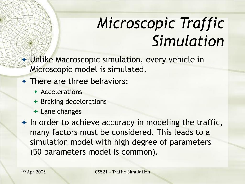 Microscopic Traffic Simulation