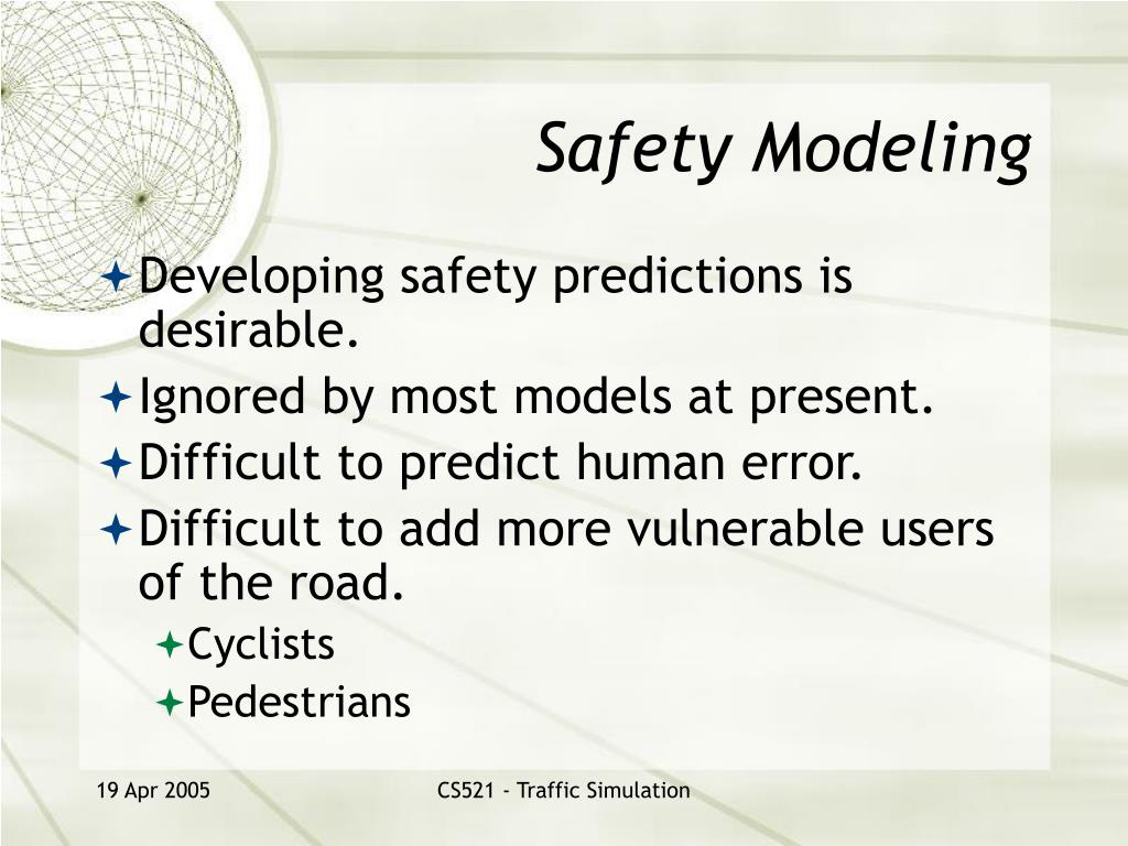 Safety Modeling