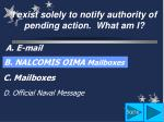 d official naval message