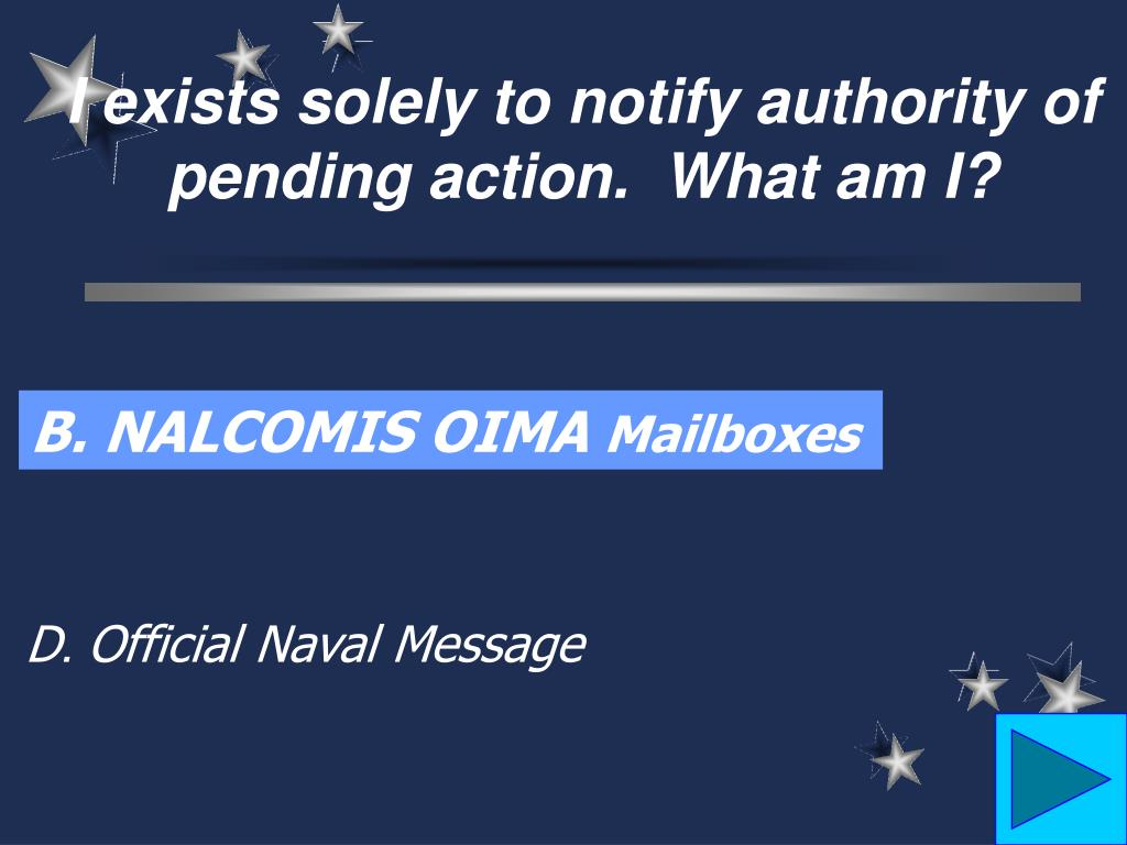 I exists solely to notify authority of pending action.  What am I?