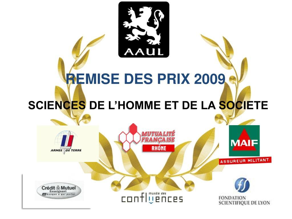 REMISE DES PRIX 2009