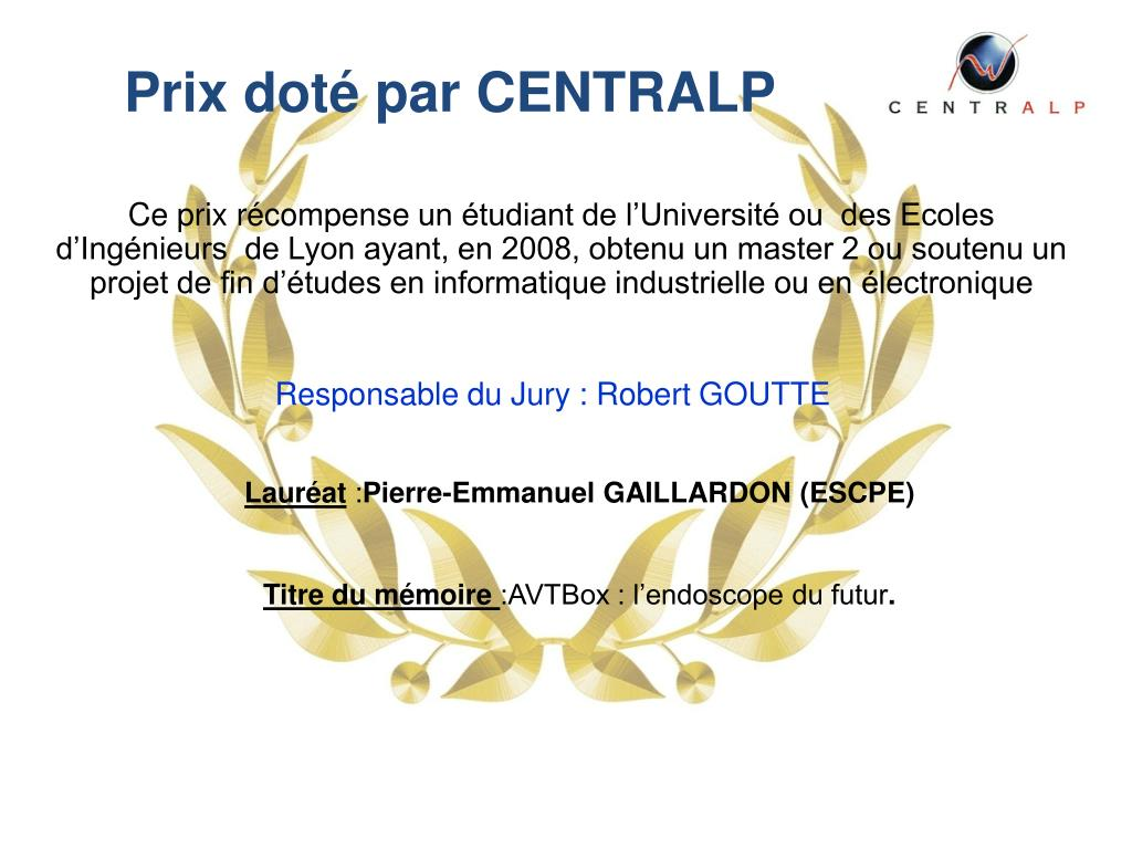Prix doté par CENTRALP