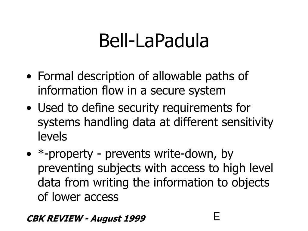 Bell-LaPadula
