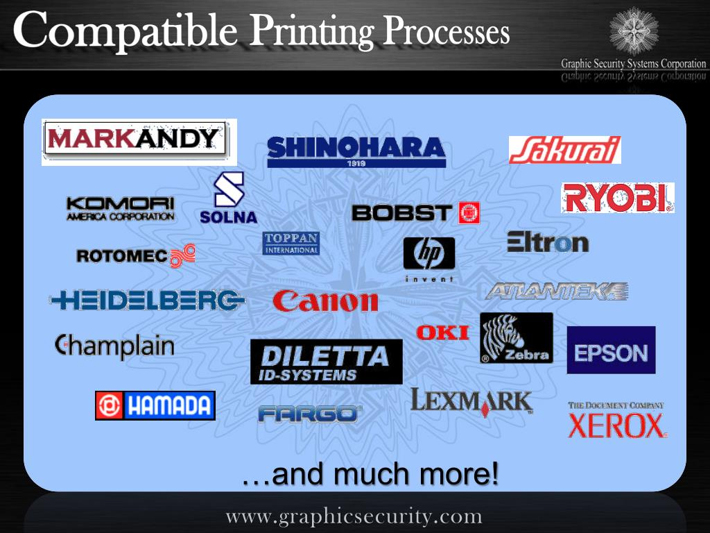Compatible Printing Processes