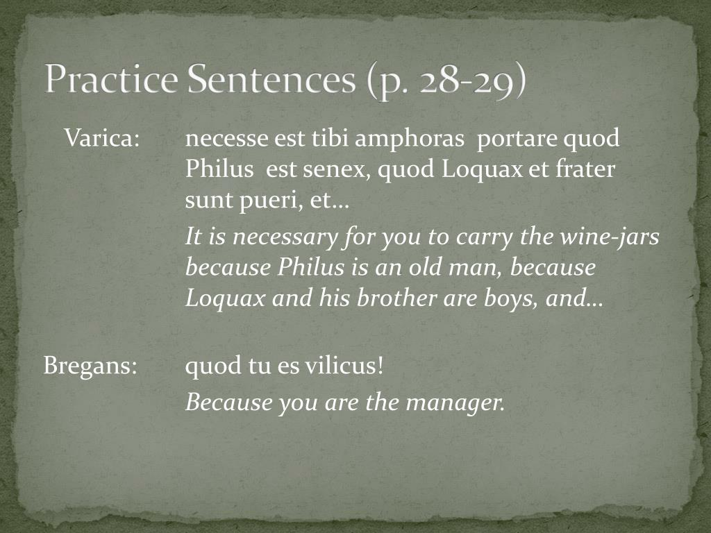 Practice Sentences (p. 28-29)