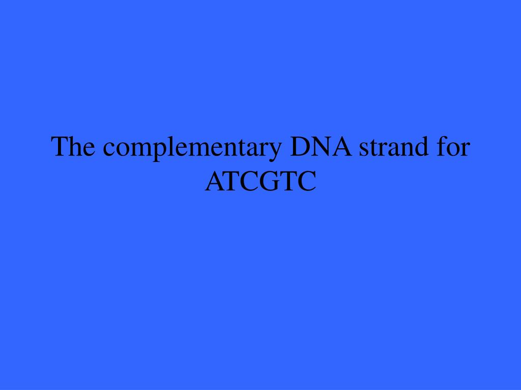 The complementary DNA strand for ATCGTC