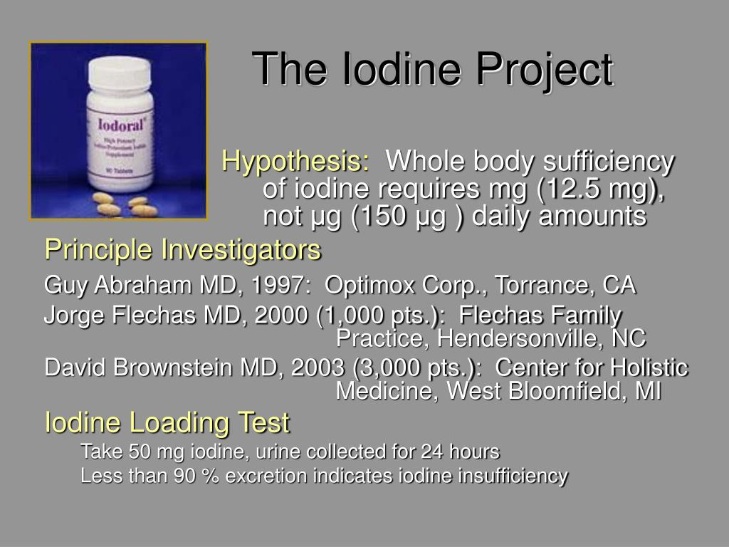 The Iodine Project