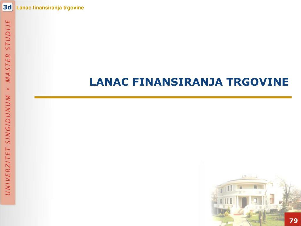 LANAC FINANSIRANJA TRGOVINE