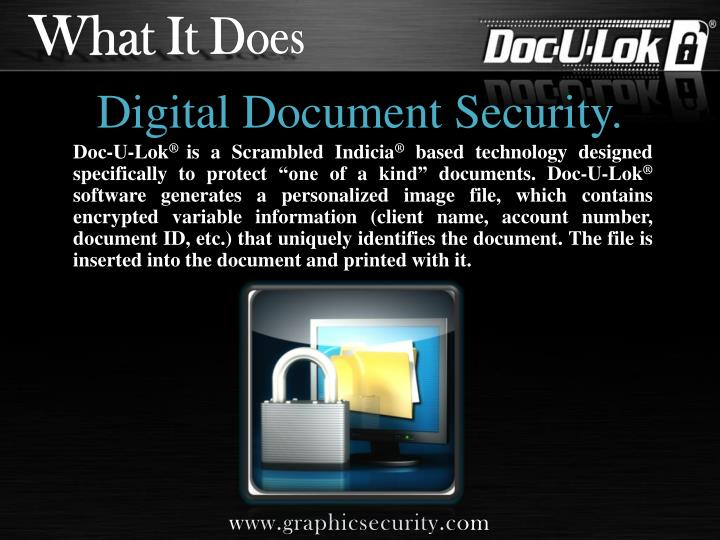 Digital document security