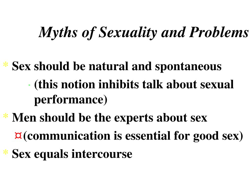 Myths of Sexuality and Problems