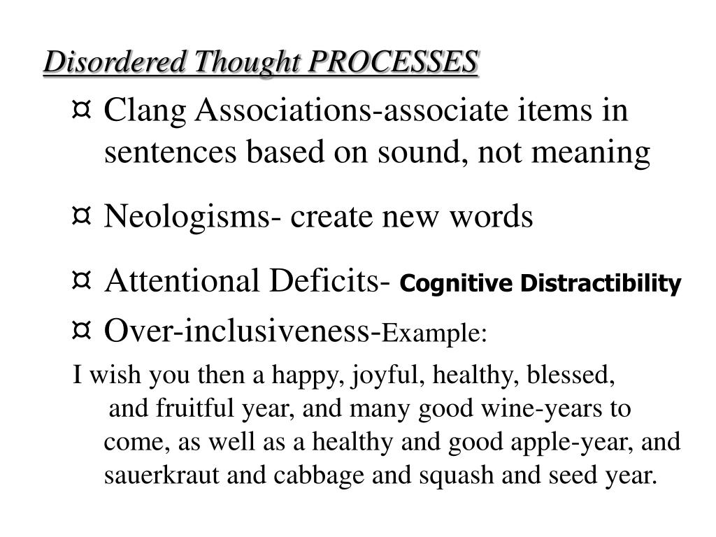 Disordered Thought PROCESSES