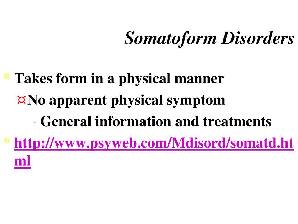 Somatoform Disorders
