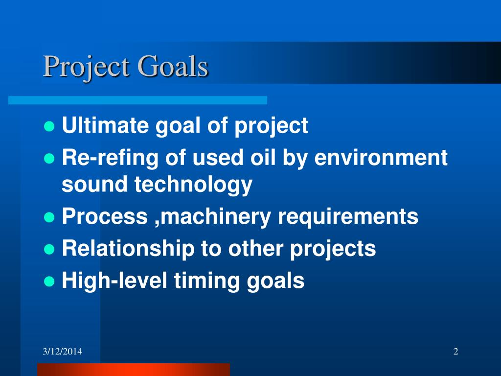 Project Goals