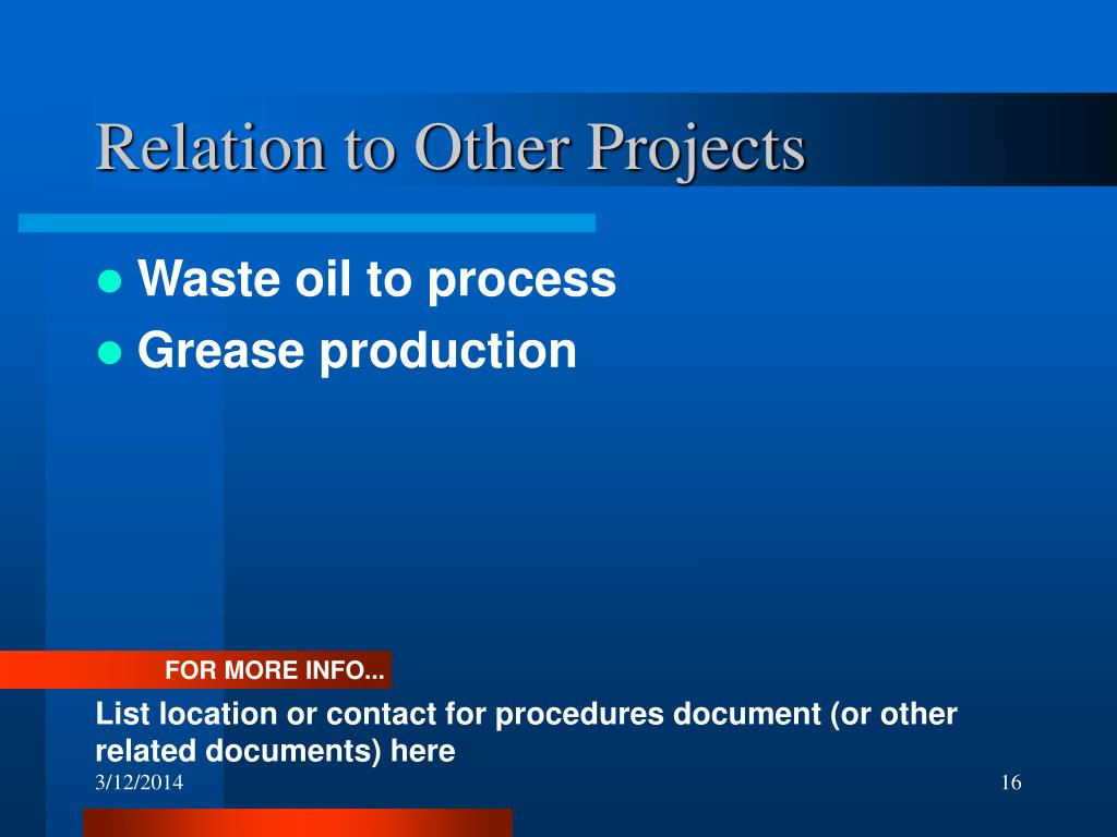 Relation to Other Projects