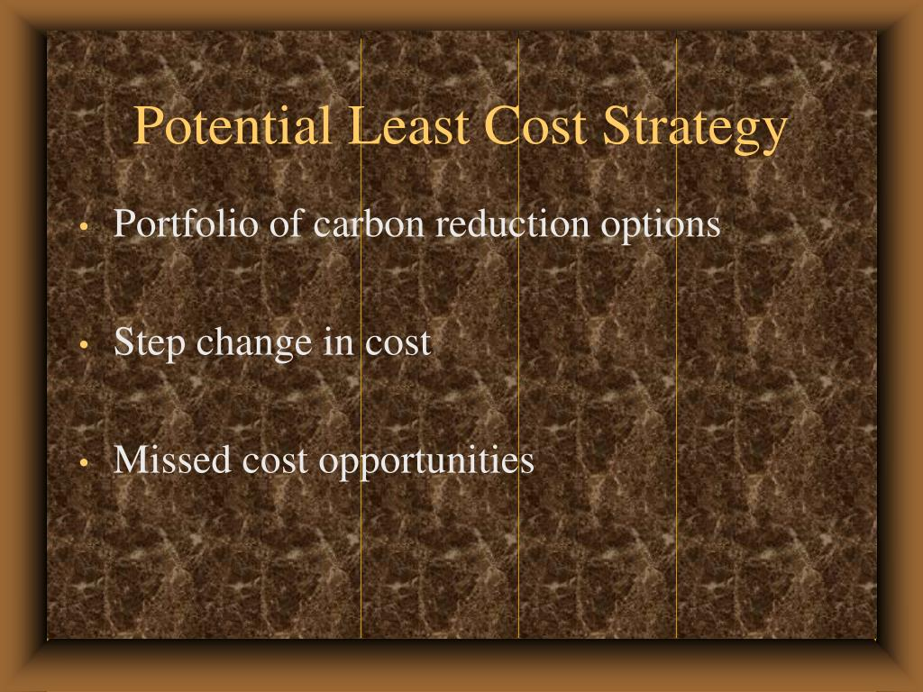 Potential Least Cost Strategy