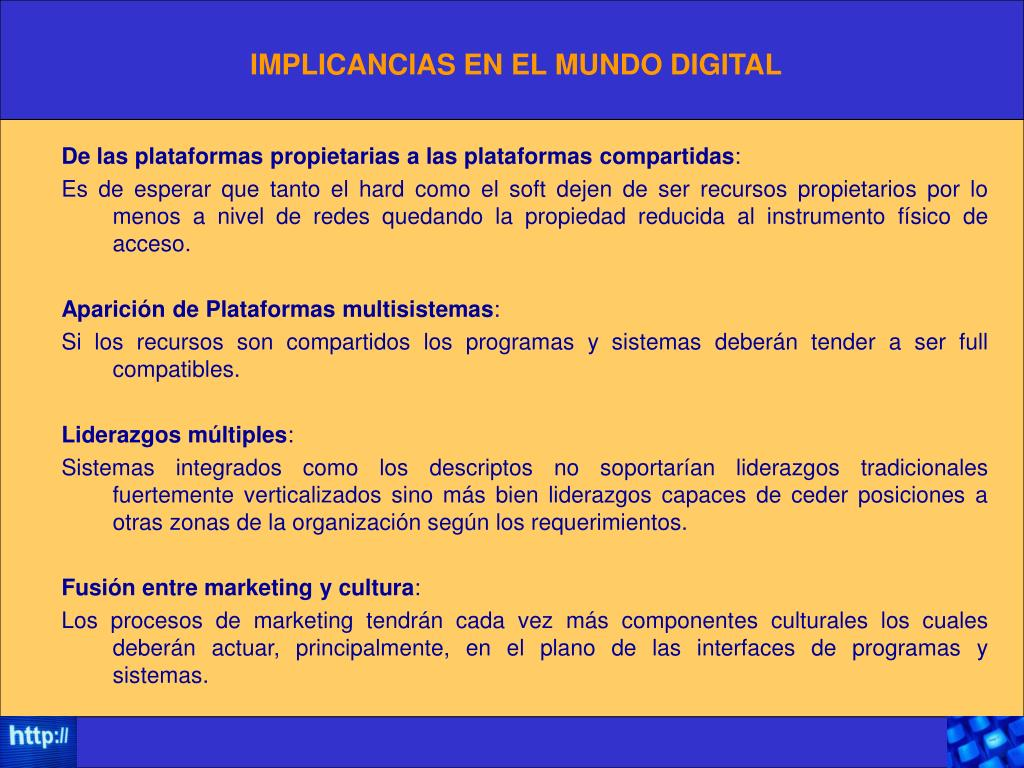 IMPLICANCIAS EN EL MUNDO DIGITAL