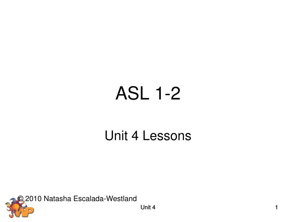 ASL 1-2
