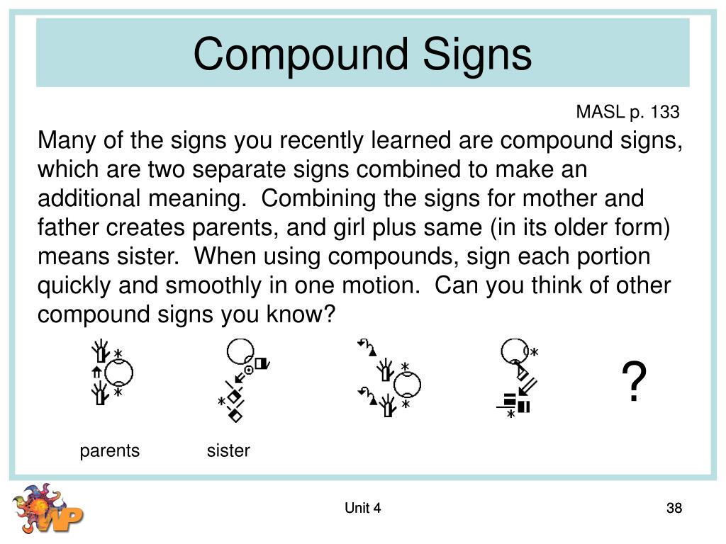 Compound Signs