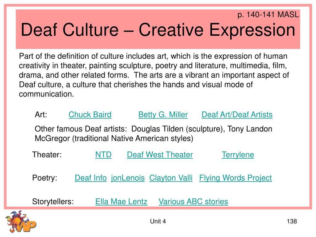 Deaf Culture – Creative Expression