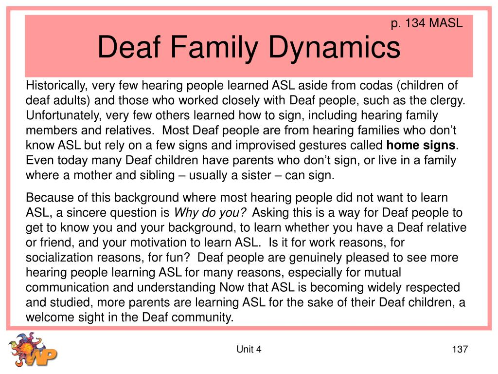 Deaf Family Dynamics