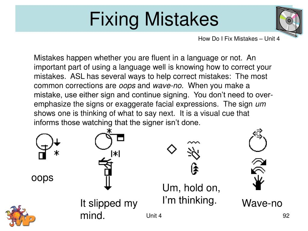 Fixing Mistakes