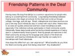 friendship patterns in the deaf community
