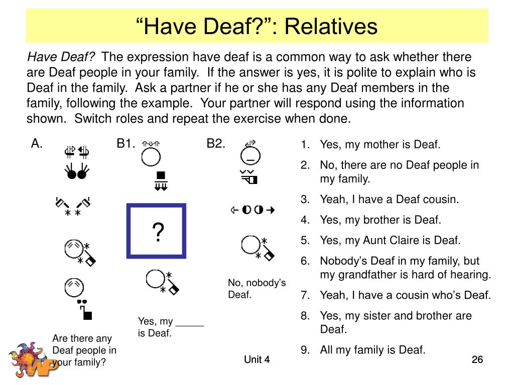 """Have Deaf?"": Relatives"