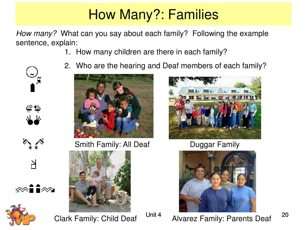 How Many?: Families