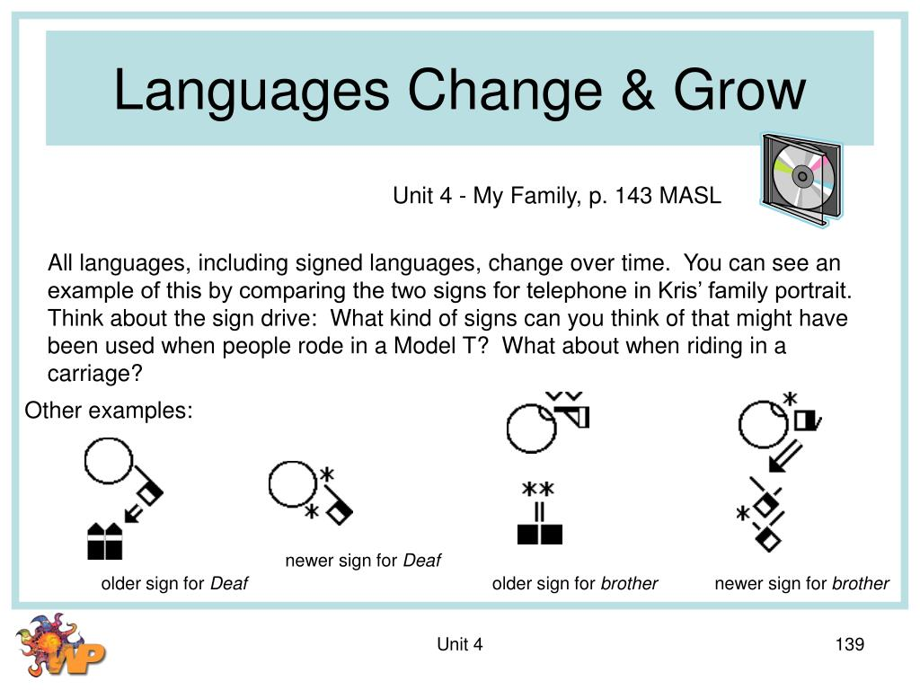 Languages Change & Grow