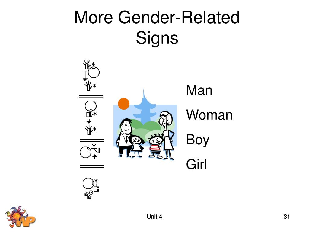 More Gender-Related Signs