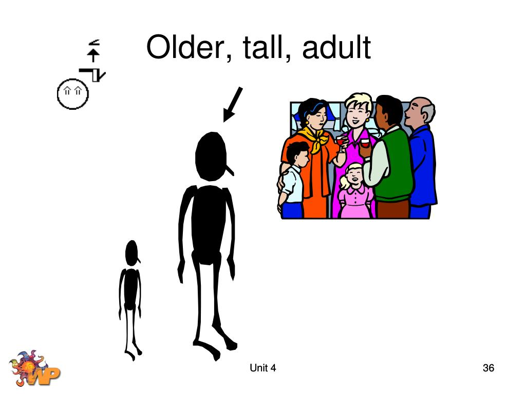 Older, tall, adult