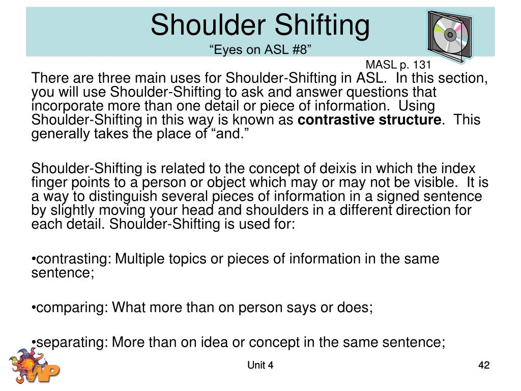 Shoulder Shifting