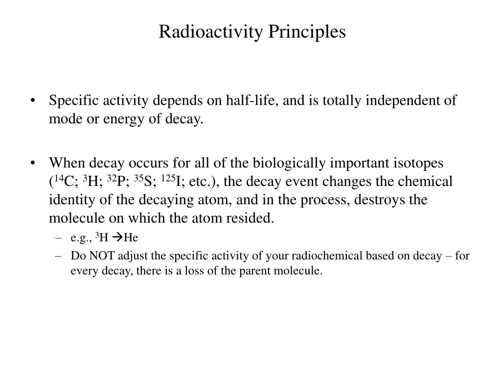 Radioactivity Principles