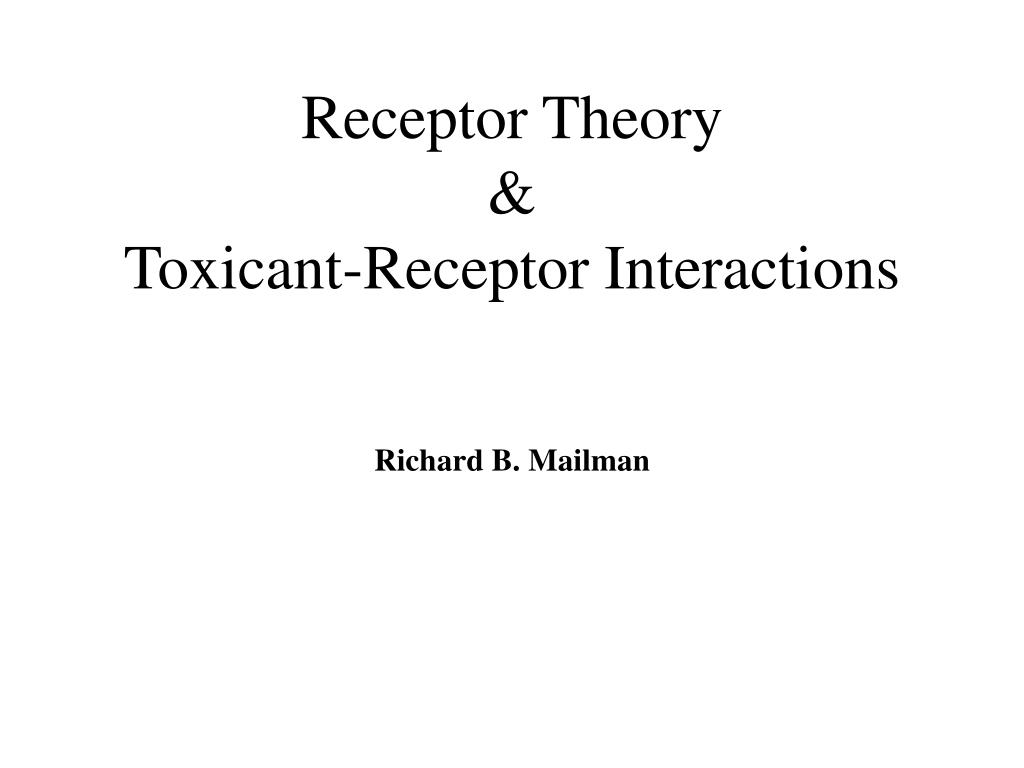 receptor theory toxicant receptor interactions