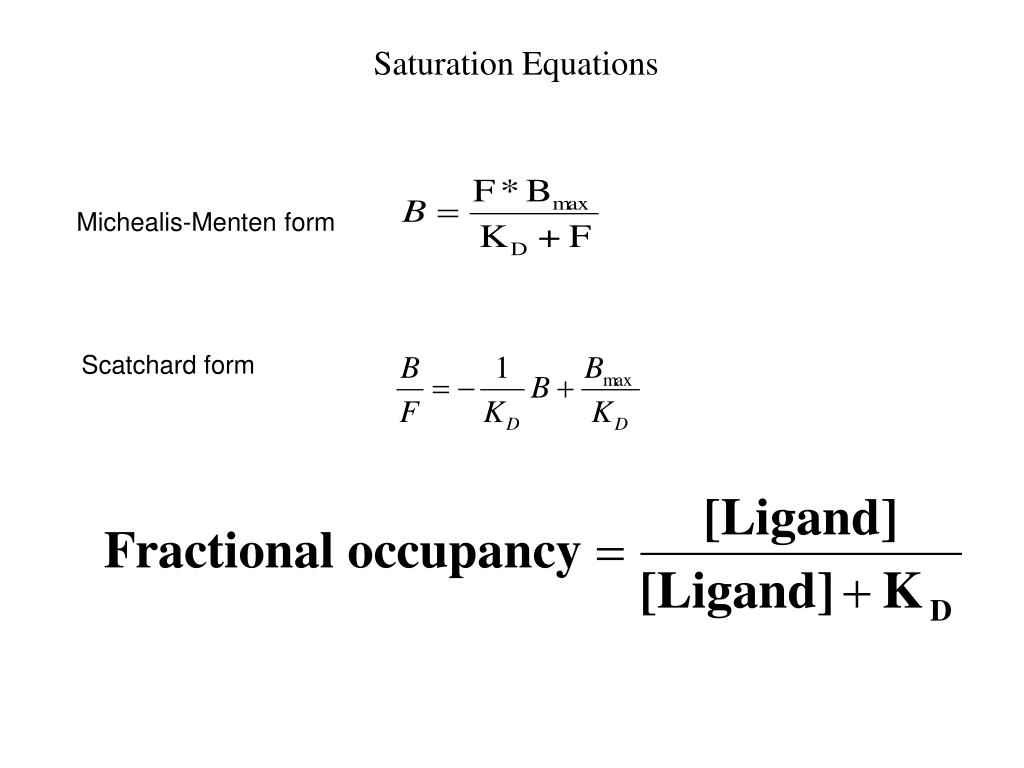 Saturation Equations