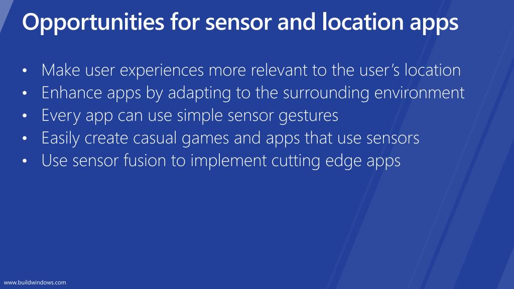 Opportunities for sensor and