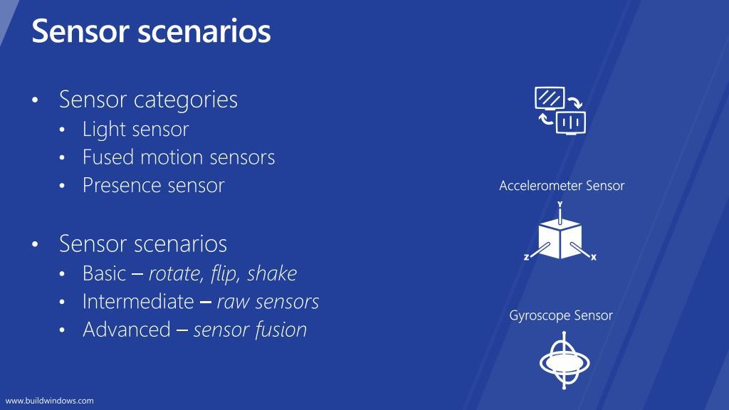 Sensor scenarios