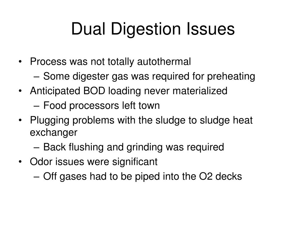 Dual Digestion Issues