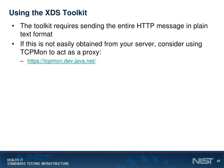 Using the XDS Toolkit