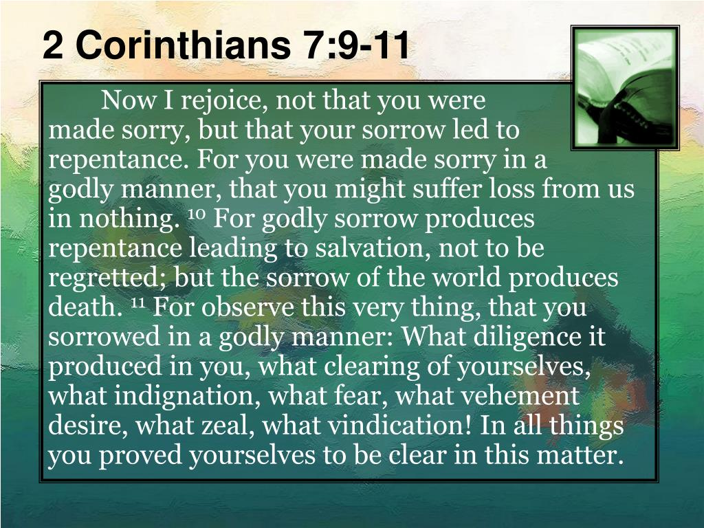 2 Corinthians 7:9-11