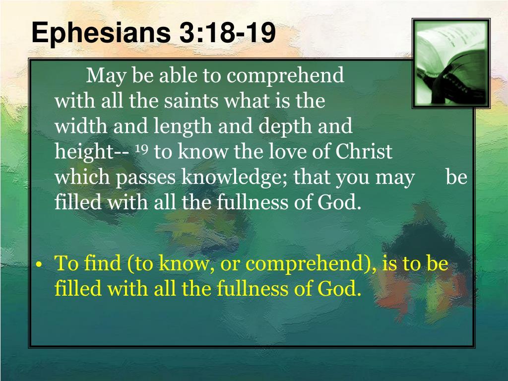 Ephesians 3:18-19