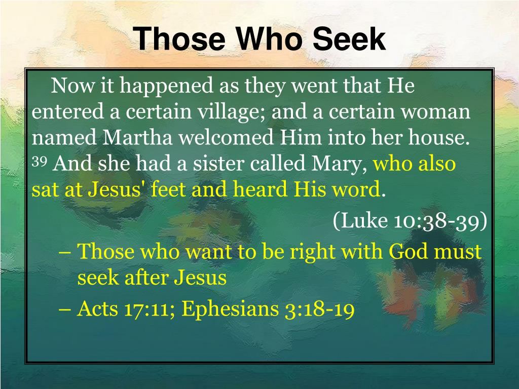 Those Who Seek