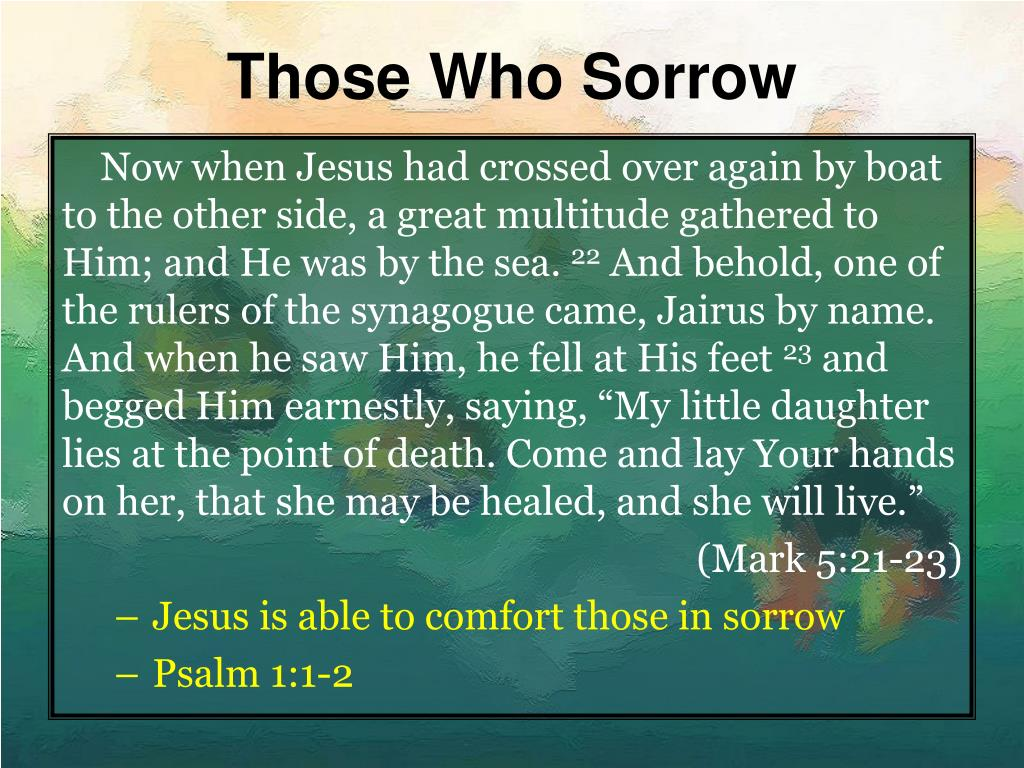 Those Who Sorrow