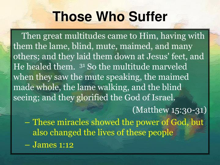 Those who suffer