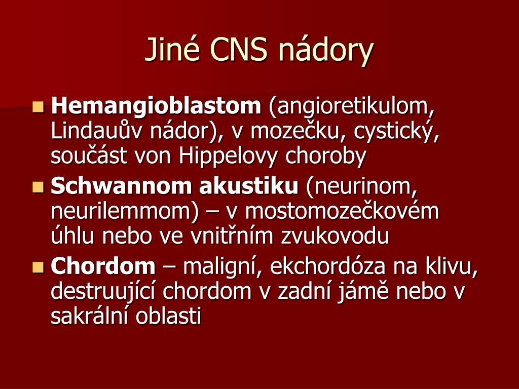 Jiné CNS nádory
