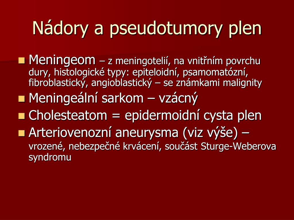 Nádory a pseudotumory plen